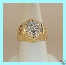 ELVIS TCB JEWELRY BEVERLY HILLS HEXAGON NUGGET RING