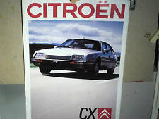 CATALOGUE/PROSPECTUS GAMME CITROEN CX 2  : 07 1987 (mod88)
