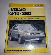 Classic Car Volvo 340 360   Workshop Repair Manual Book