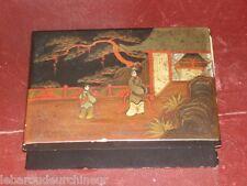 boite ancienne chine 19èmes  début 20èmes peinte signature asian box