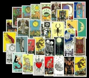 NEW 20 Different TAROT CARD Stickers Laptop / Walls / PC'S