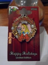 Alice in Wonderland 2016 Happy Holidays Limited Edition Disney Trading Pin New!