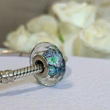 Pandora Faceted Multicolour Murano Glass Charm S925 ALE Hallmarked, Rare Retired