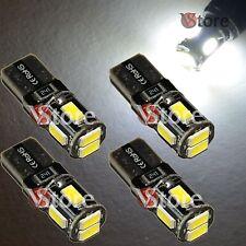 4 LED T10 Lampade 6 SMD 5630 Canbus Bianco No Errore Luci Posizione Xenon Targa