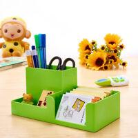 9Color Office Home Plastic Desk Pen Pencil Holder Storage Box Organiser Decor