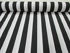 White Stripe Fabric Sofia black Stripes Curtain Upholstery Material -140cm wide