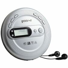 Groove Retro Personal CD Player With FM Radio Mp3 Playback Silver Discman