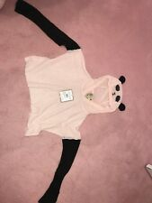 WILDFOX Panda Face Hooded Billy Crop Sweater Size XS