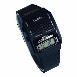 Reloj parlante para ciegos, baja visión, digital, alarma