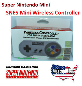 Wireless SNES Mini Classic Nintendo System Console Controller Control Pad 2.4GHZ