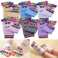 6 Pair Girls Woman Smile Five Fingers Toe Ankle Cartoon Five-toe Cute Sport Sock