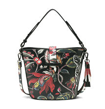 DESIGUAL Bols Unexpected Caracas Negro, Damentasche Handtasche Schultertasche