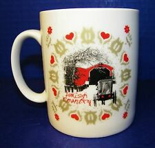 Mug Coffee Cup Valentines Day in Amish Country Horse Buggy Hearts Love Bridge