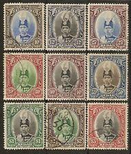 MALAYA KEDAH 1937 SULTAN TO $5 SG60/8 FINE USED CAT £275