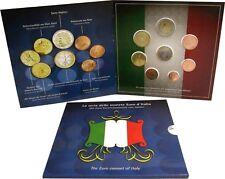 Italien Euro 2002 KMS 1 Cent bis 2 Euro Stempelglanz Sondersatz im Folder