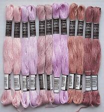 fil à broder 12 docken rosa-rosè avec mouliné, fil à broder en coton broder -25