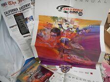 1998 California 500 NASCAR 50th Anni. Official Souvenir Program w/Cover & Poster