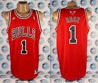 CHICAGO BULLS BASKETBALL NBA SHIRT JERSEY ADIDAS #1 DERRICK ROSE L RED