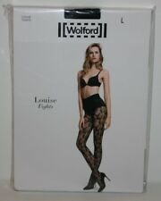 New! Sealed Packaging Wolford LOUISE Fishnet Floral Tights Pantyhose L Large