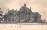 SPRINGFIELD OHIO IOOF HOME~ODD FELLOWS HOME~ROTOGRAPH OSTCARD 1900s