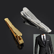 Luxury Mens Necktie Tie Bar Clasp Clip Cufflinks Simple Gift Silver Gold Jewelry