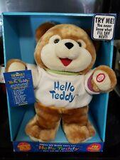 "15"" HELLO TEDDY BEAR DAN DEE INTERACTIVE STUFFED ANIMAL PLUSH TOY NEW"