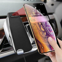 Automatic 360° Qi Wireless Car Charger Mount Air Vent Holder for Mobile Phone