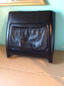1979 Volvo 262c Bertone Front Seat Back Cover Black Leather DS LEFT
