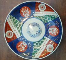 Vtg Antique Japanese Asian Kutani Imari Porcelain Plate charger 21 cm Diameter
