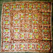Vintage ACETATE SATIN SCARF Floral Design