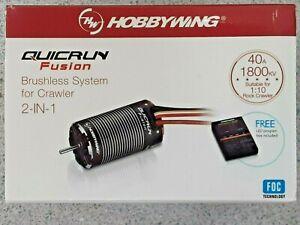 Hobbywing QuicRun Fusion FOC 2-in-1 ESC & Motor System (1800Kv) 30120401 New!