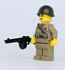 World War 2 Russian Soldier PPSh WW2 Minifigure made with real LEGO(R) part