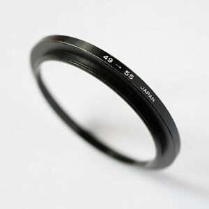 49-55mm STEP UP (STEPPING) FILTER RING ADAPTER