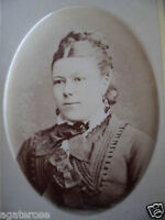 ANTIQUE OLD VINTAGE CDV PHOTO PORTRAIT VICTORIAN LADY PHOTOGRAPH Mourning Dress