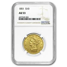 1851 $10 Liberty Gold Eagle AU-53 NGC