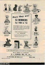 1951 ADVERT Levinson Toy Children's Room Novelty Night Lites Lights Doll Bank