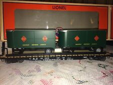 Lionel 6-27565 C&O PS-4 Flatcar w/REA Piggyback Trailers *Real Wood* Deck #81004