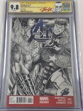 Avengers A.I. #1 Original Art Sketch Alex Kotkin Signed Stan Lee CGC 9.8 SS MCU