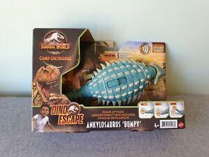 JURASSIC WORLD Camp Cretaceous Dino Escape Roar Attack Ankylosaurus BUMPY Mattel