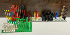 141 Piece LEGO Whip Antenna Blue Orange Red Black White Gray 8H 6988 10143 6991