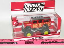 The Menards ~Red monster truck Denver Die Cast vehicle