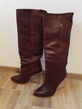 MAISON MARTIN MARGIELA for H&M / 40 / Lederstiefel / Stiefel / rot braun