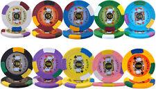 New Bulk Lot 500 Kings Casino 14g Clay Casino Poker Chips - Pick Chips!