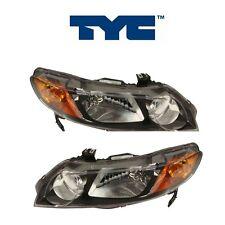 Fits Honda Civic 2006-2008 Sedan Pair Set of 2 Headlight Assemblies TYC