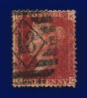 1878 SG43 1d Red Plate 213 KG London 18 Pert Perfs Rich Shade G/U Cat £13 cnek