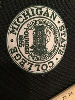 MSU Michigan State Spartans Vintage  Embroidered Iron On Patch 3""