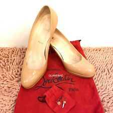 Pre Owned Authentic CHRISTIAN LOUBOUTIN Patent Leather Simple Pump Size 39.5
