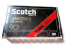 CASSETTE TAPE BLANK SEALED - 1x (one) SCOTCH MASTER I 90 [1977-78] 3M EUR market