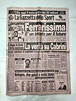 GAZZETTA DELLO SPORT 16 NOVEMBRE 1987 BERGER VINCE GP DEL GIAPPONE 11