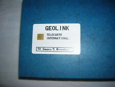 TELECARTE TAAF GEOLINK 50 GAGES 5 MINUTES TRES RARE ETAT  LUXE